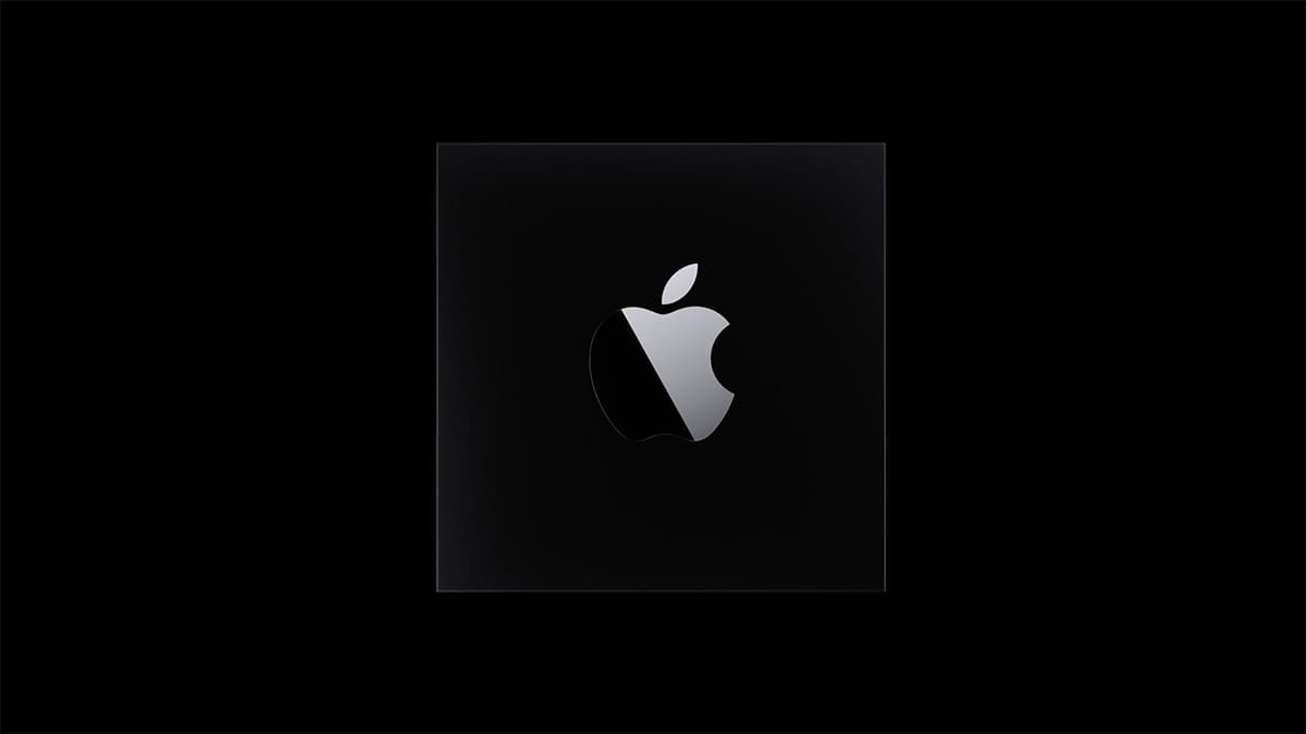 apple logo on black