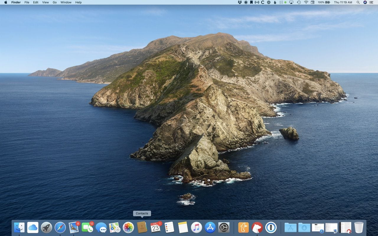 No files or folders here! A clean Mac Desktop