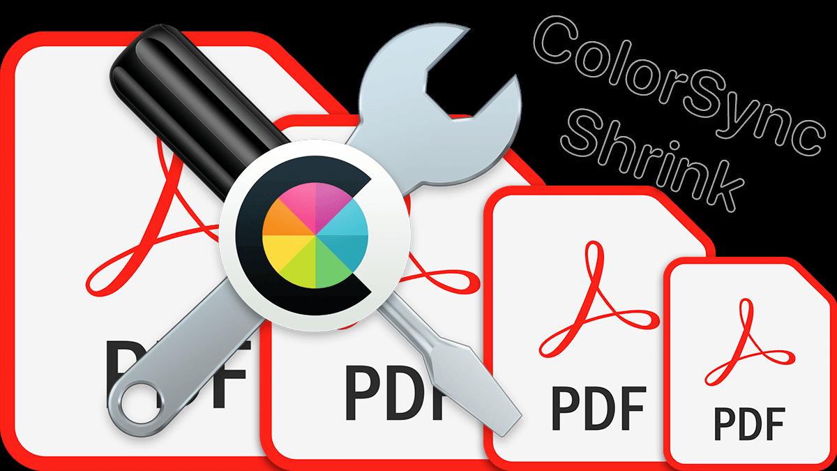 PDF icons and colorsync icon