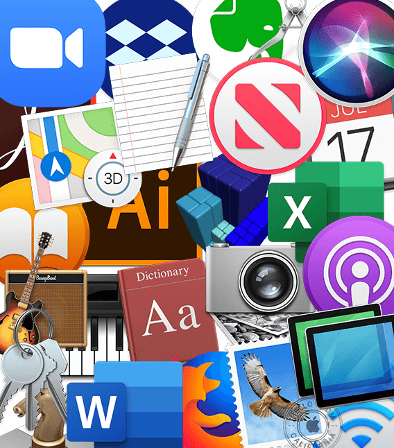 montage of app icons