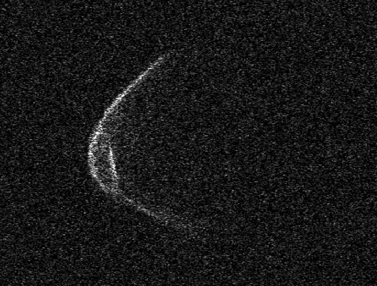 Radar image of 1998 OR2 taken by the Arecibo Observatory on April 18, 2020.  Arecibo Observatory / NASA / NSF