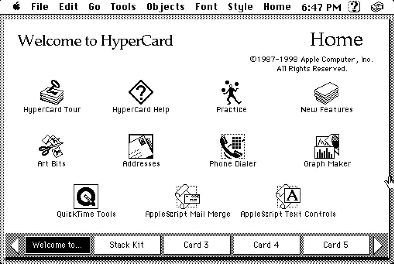 Welcome to HyperCard