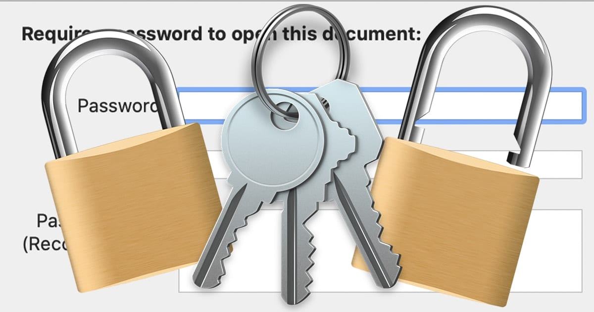 lock and key with password protection