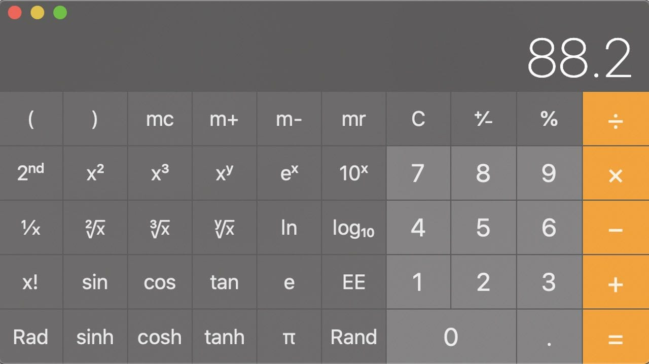 Need scientific functions on your calculator? They're available!