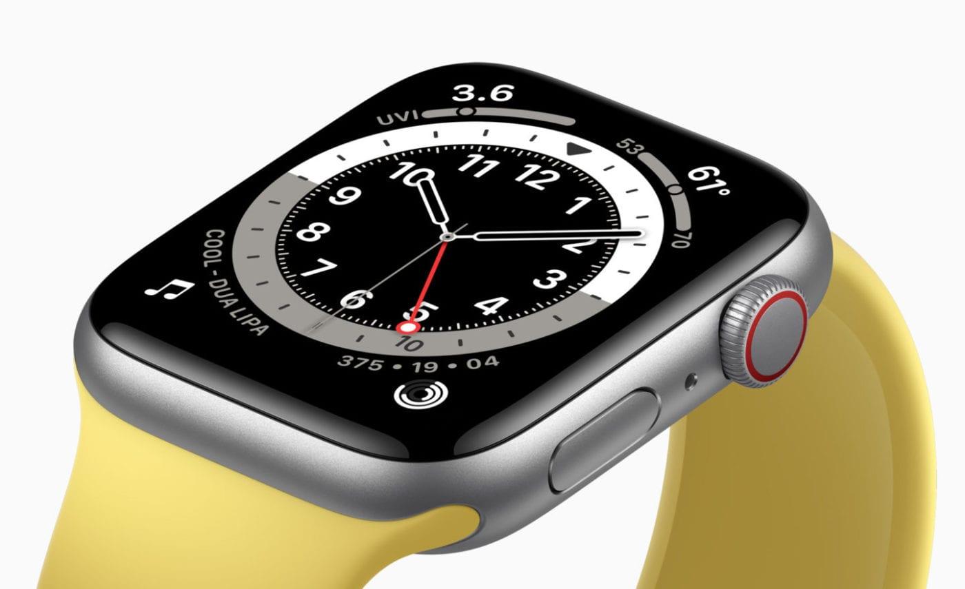 Yellow Apple Watch SE