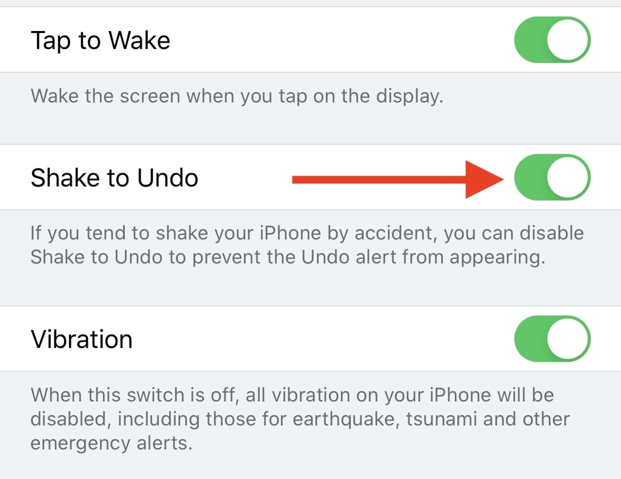 Tap the Shake to Undo button in Accessibility > Touch to disable the feature