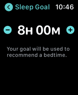 Adding or changing a sleep goal