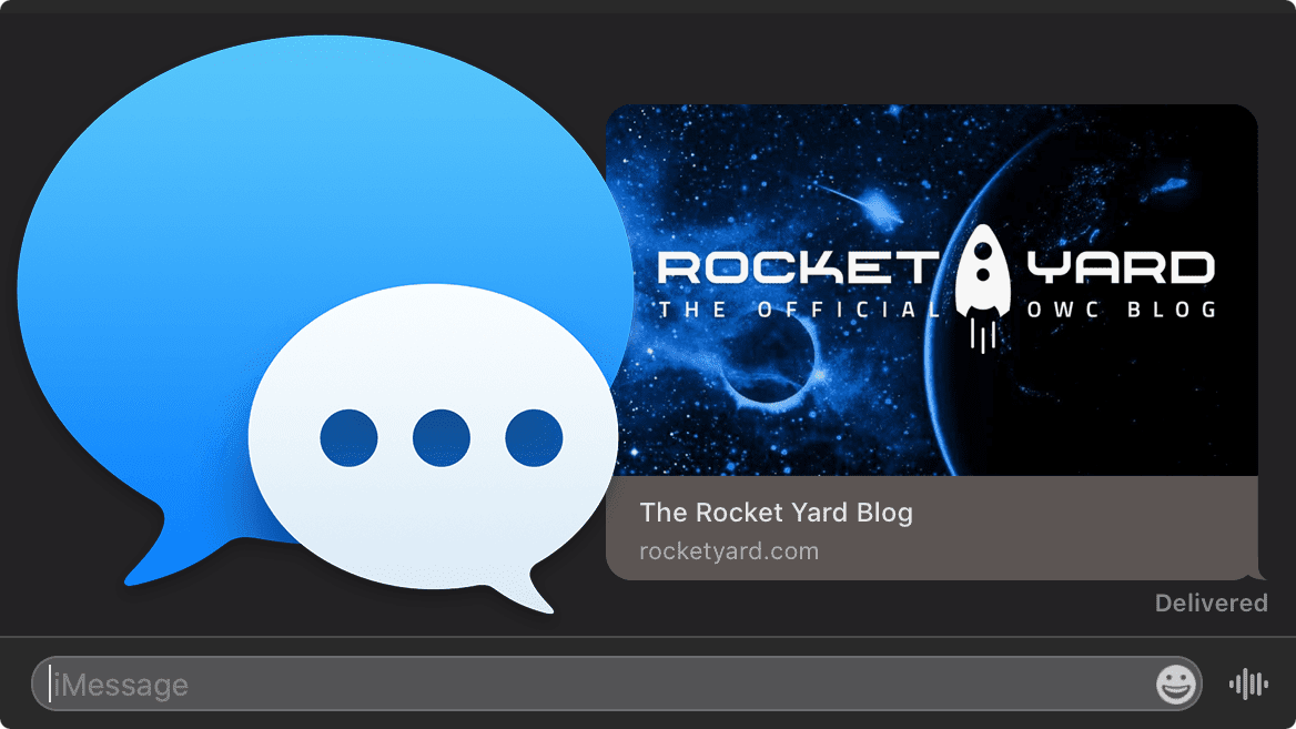 Rocket Yard preview link with messages icon