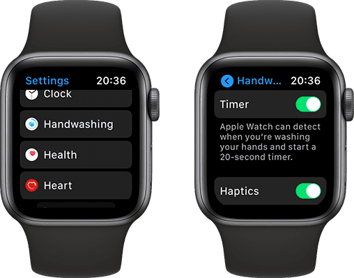 To enable handwashing detection in watchOS 7, follow the directions listed below