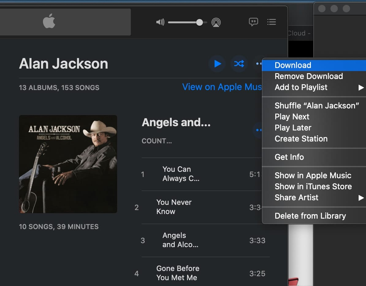 Downloading all of your music ensures everything is included in your backup