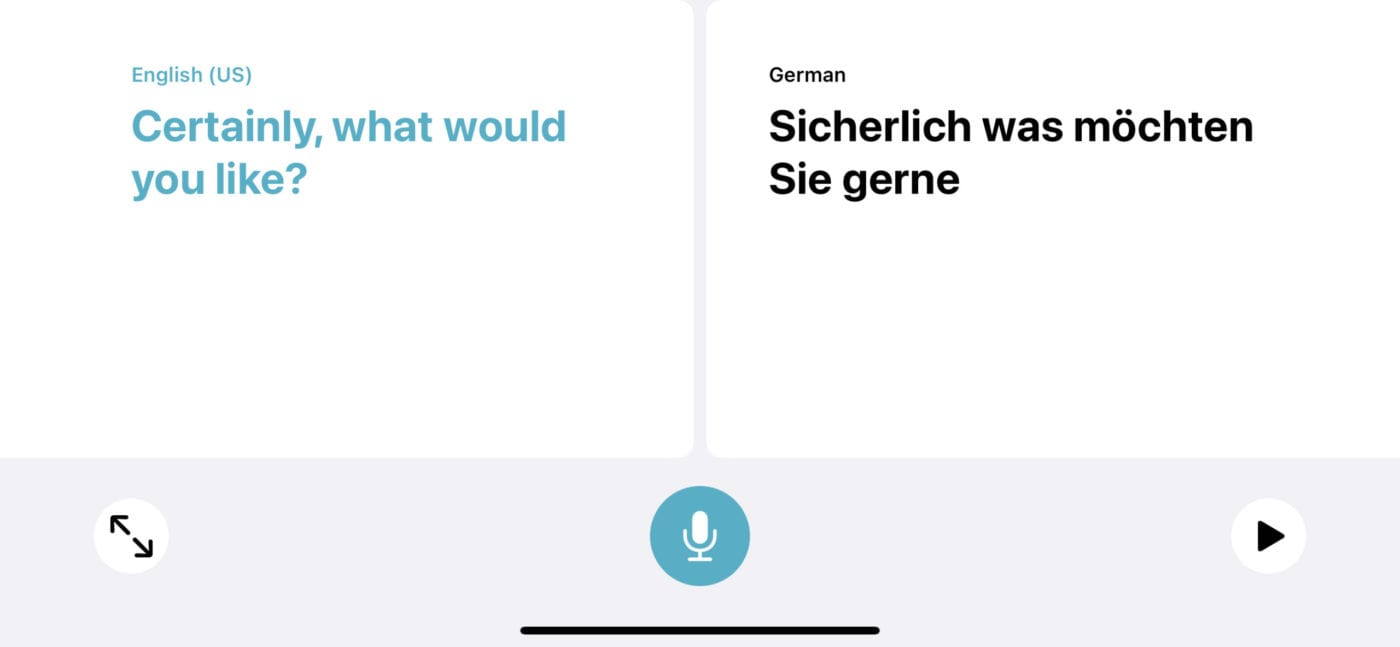 Translator can determine which language is being spoken in Conversation Mode.