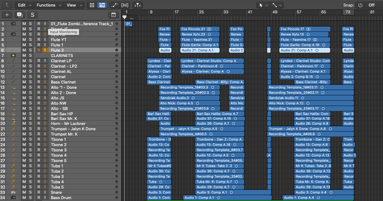 Sample Final Mix overview