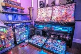 Richard Devine's electronic music studio setup
