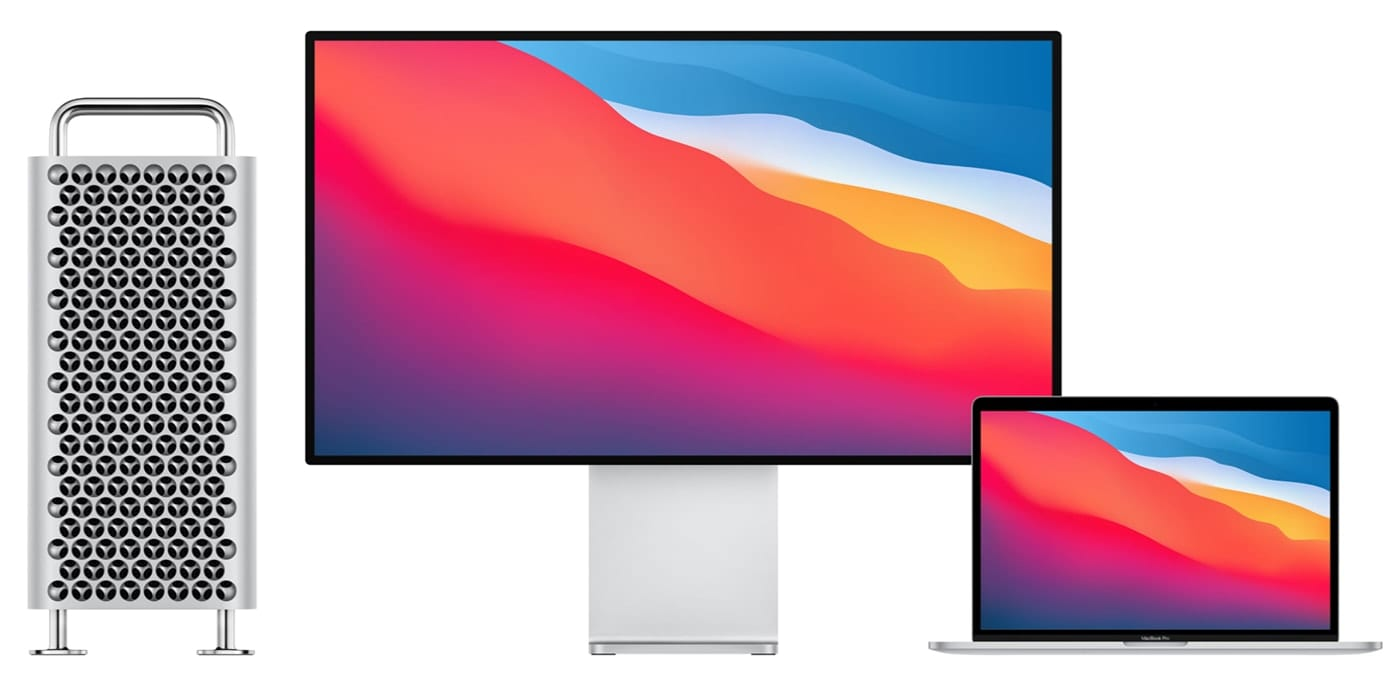 Apple Pro XDR display with MacBook Pro and Mac Pro