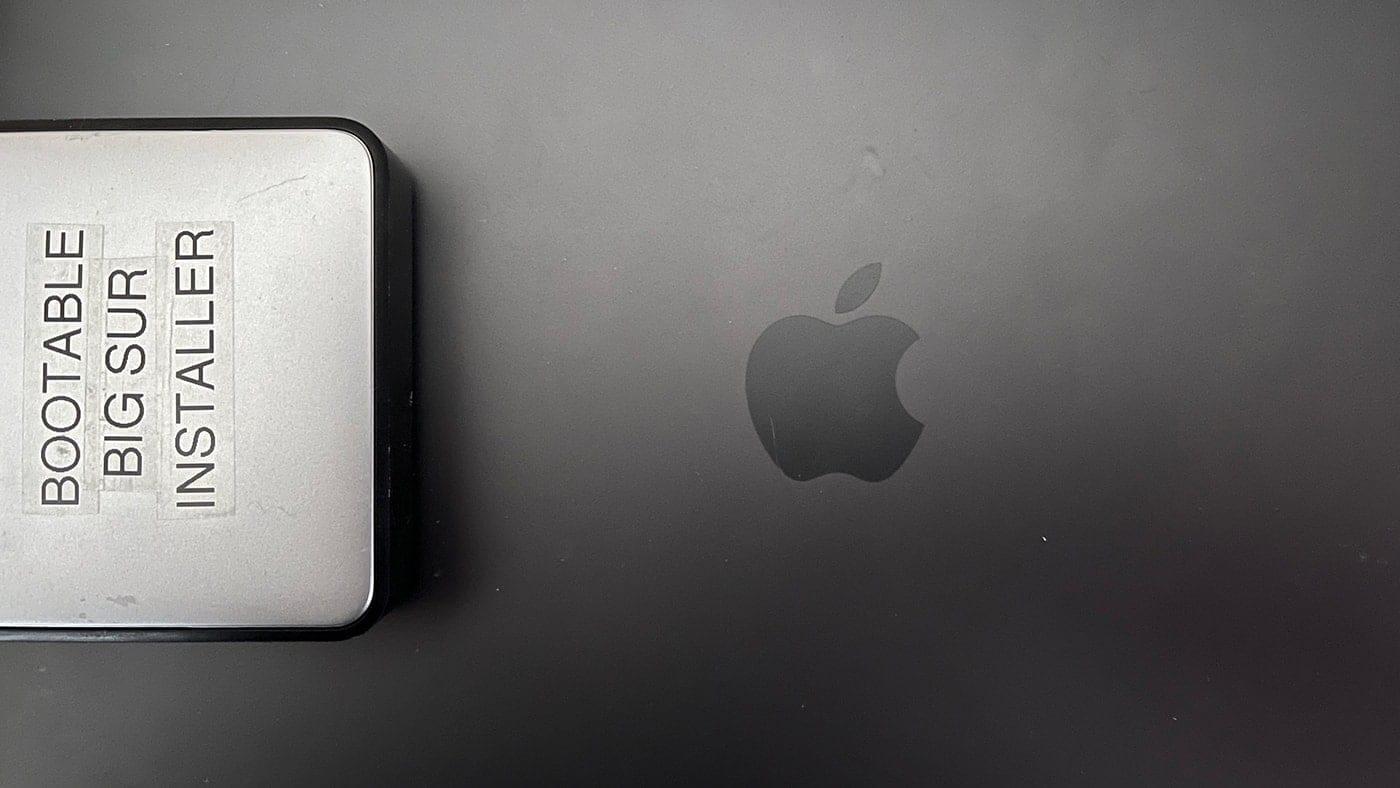 Bootable Big Sur Installer disk on a macbook pro