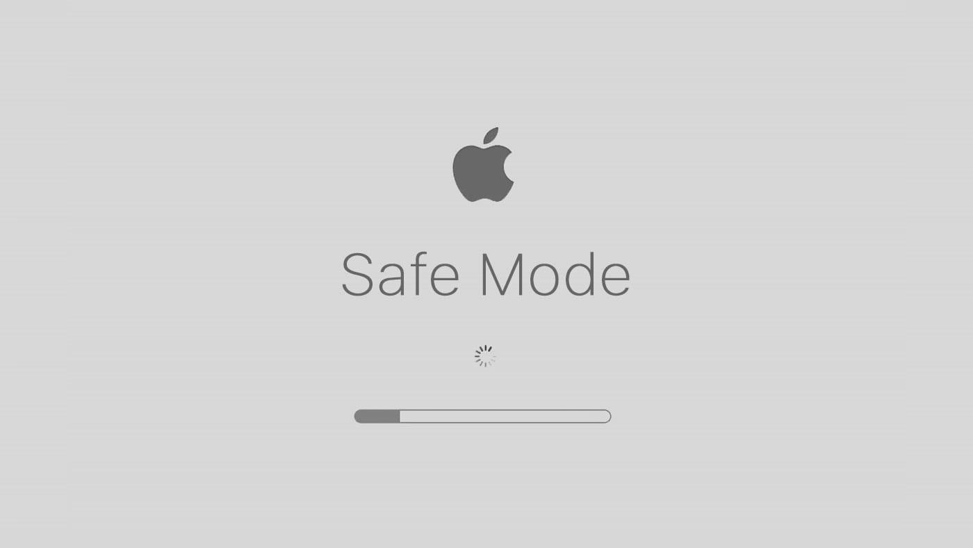Mac Safe Mode startup screen