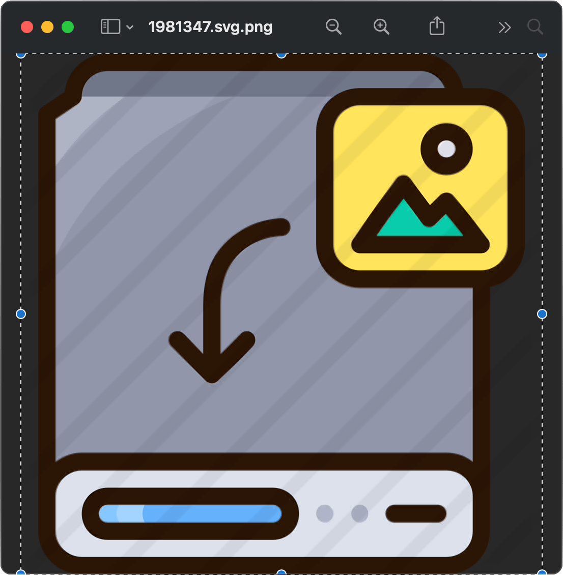 selecting the contents of an icon image file