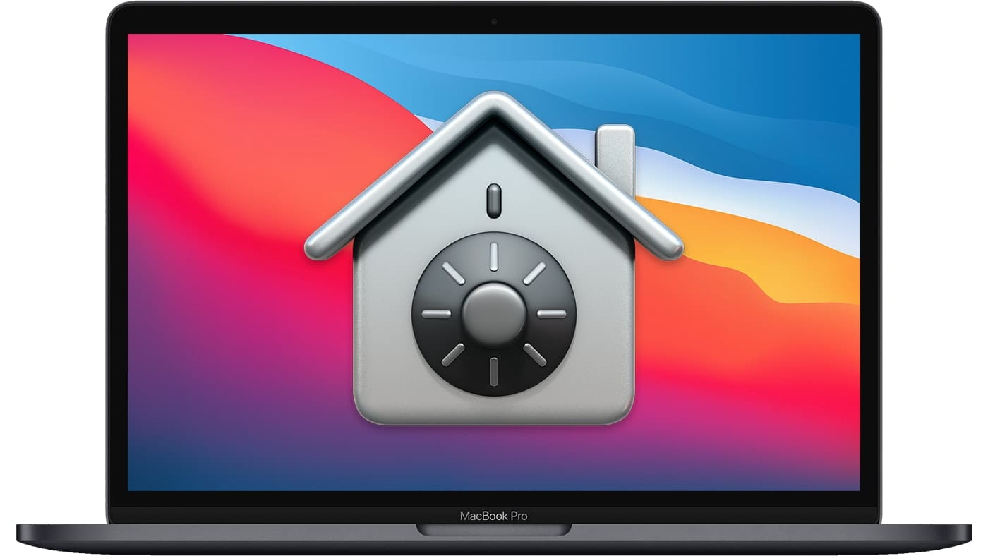 13-inch M1 MacBook Pro with Security Icon – Silver Sparrow