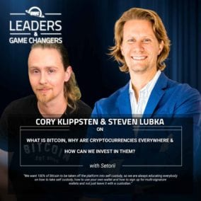 Cory Klippsten, CEO of Swan Bitcoin, and Steven Lubka on Bitcoin, BTC, ETH, Etherium, Swanbitcoin, crypto, cryptocurrencies