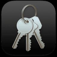 Transparent macOS Big Sur Keychain Access icon