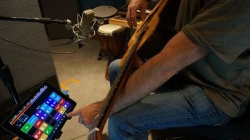 Ian Cohen using an iPad to control a DAW