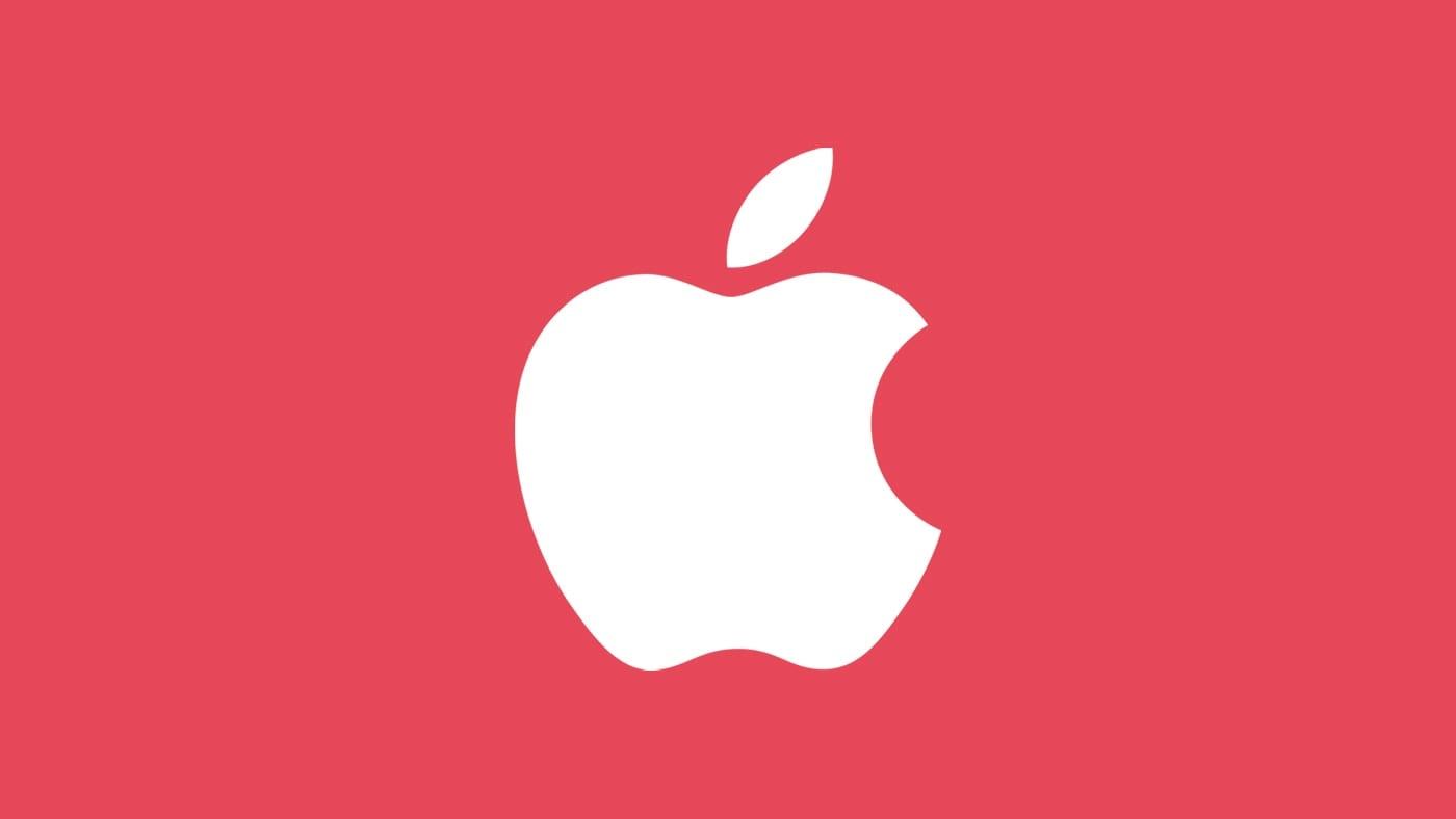 Apple News – White Apple logo on red background