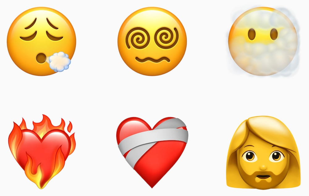 Some of the new emoji introduced in iOS 14.5