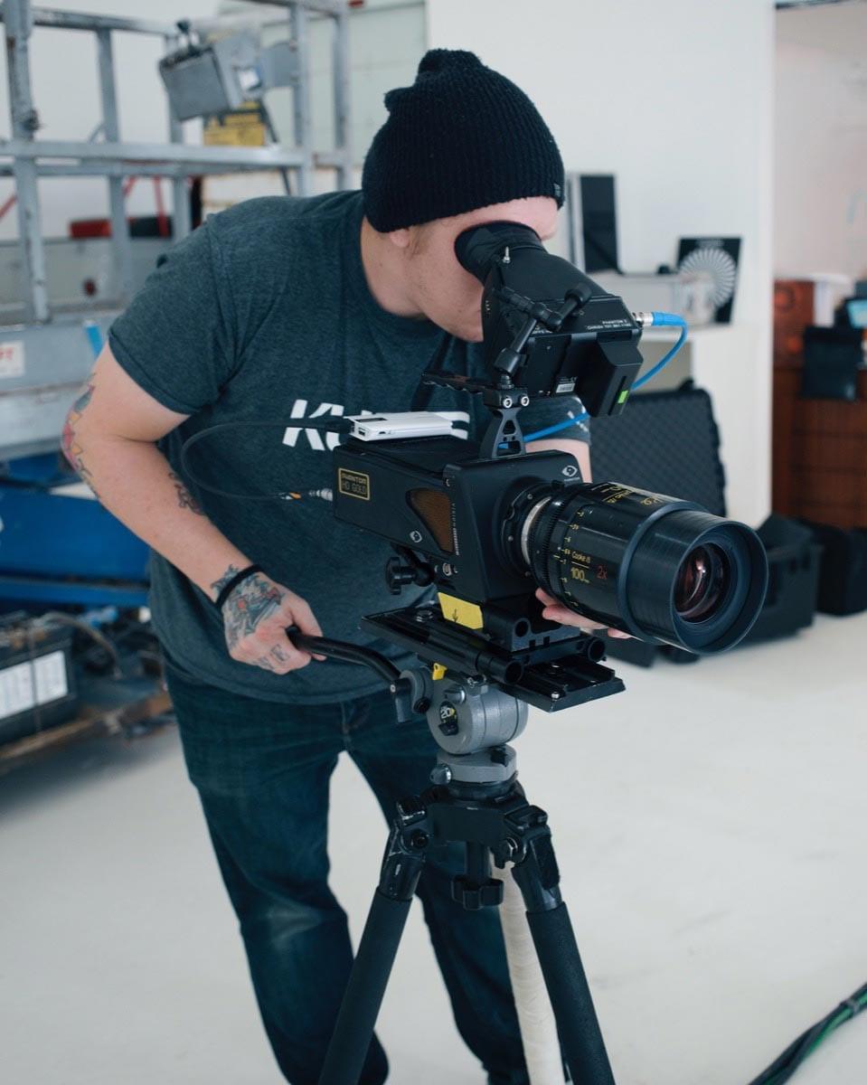 Chris Vanderschaaf with his Phantom camera