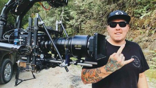 Chris Vanderschaaf with him slow motion camera