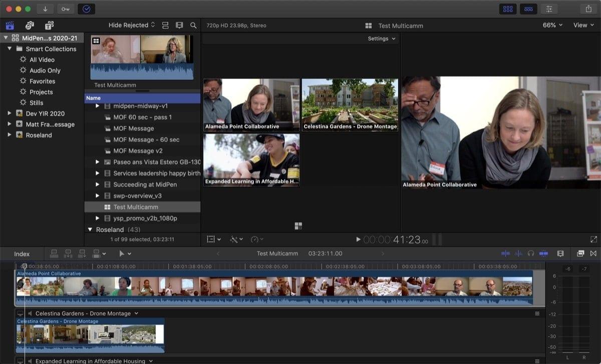 Final Cur Pro X multicam shot