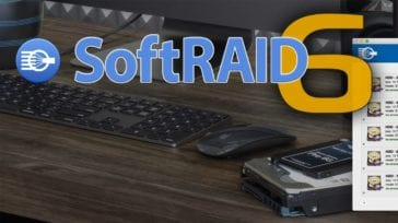 SoftRAIOD 6 logo with desktop computer