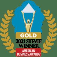 2021 American Business Awards (ABA) Gold Stevie winner badge