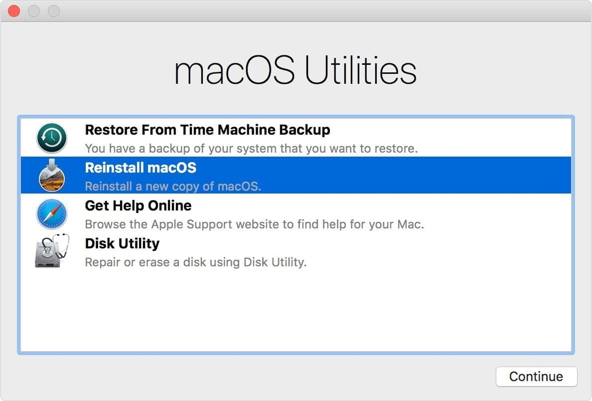macOS Utilities on Intel Macs