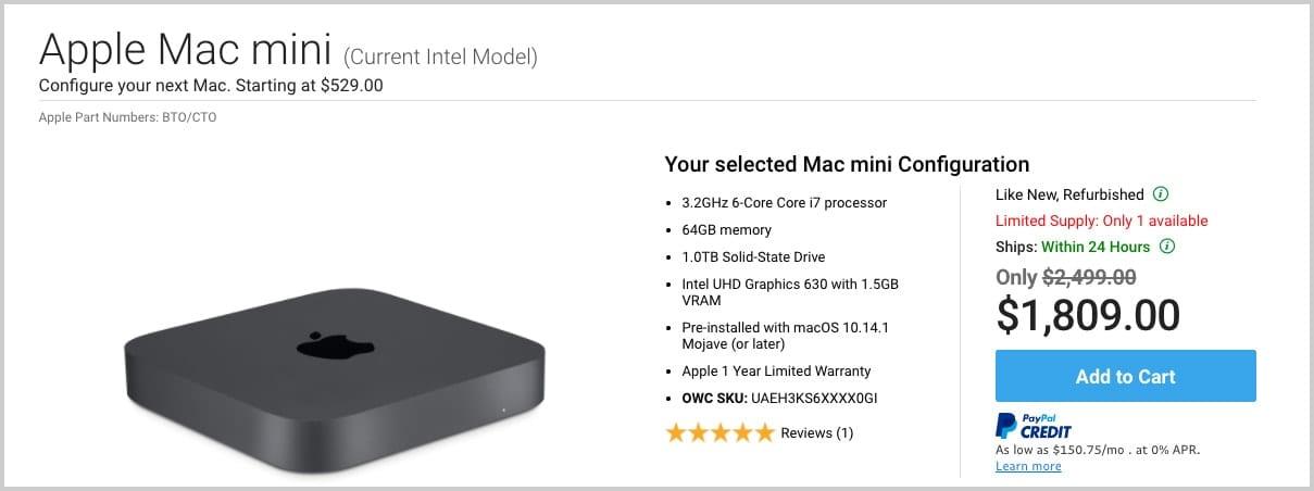 Used Mac mini, perfect for video editors
