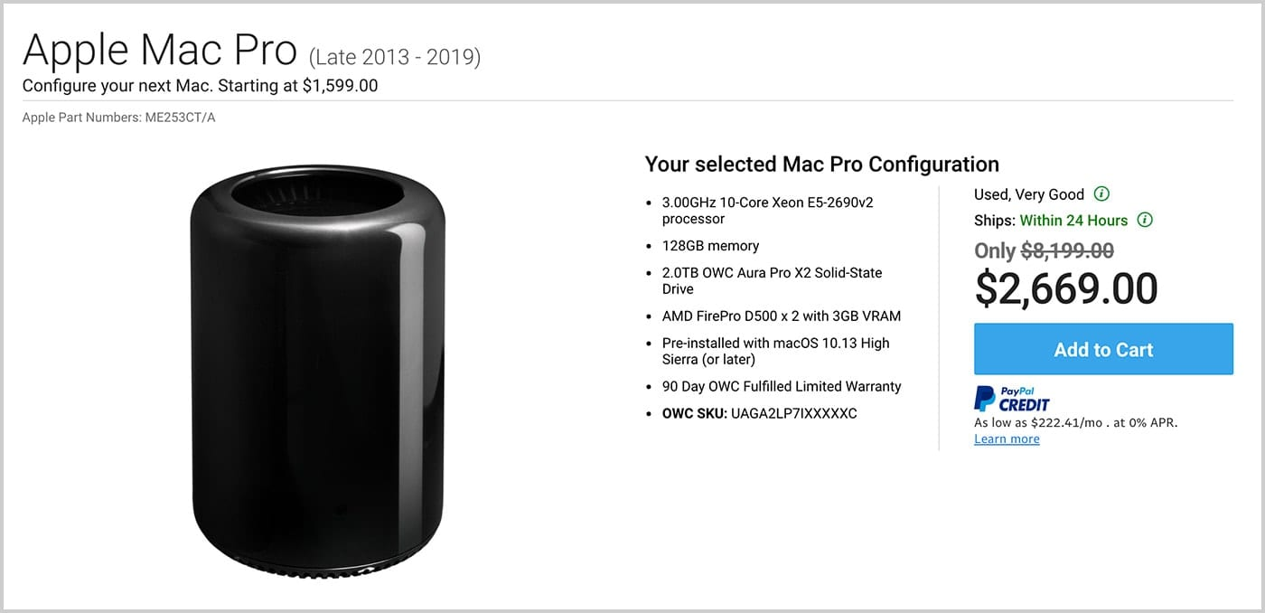 Apple Mac Pro for video editing