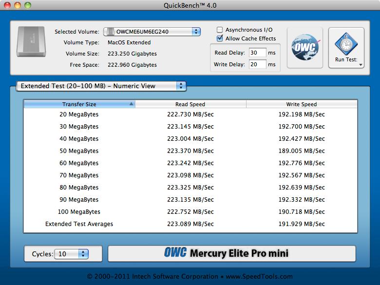 OWCME6UM6EG240 via USB 3.0