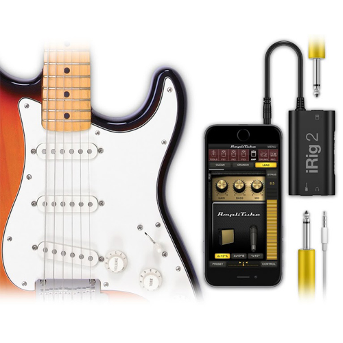 ik multimedia irig 2 guitar interface for iphone mac or android. Black Bedroom Furniture Sets. Home Design Ideas