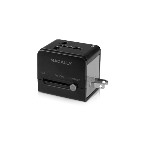 Macally universal power plug adapter with usb charger