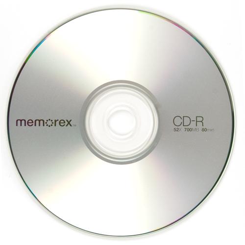 memorex cdr80 52x cd r 700mb blank cd media at. Black Bedroom Furniture Sets. Home Design Ideas